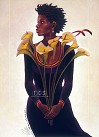 Charles Bibbs - Lillies From Charles Limited Edition Canvas Giclee