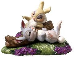 Bambi Thumper & Miss Bunny Twitterpated In The Springtime by WDCC Disney Classics Image is watermarked for copyright protection and is not present on the actual art work.