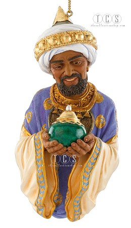 The Wise Man With Frankincense 2010 Annual Club Ornament by Ebony Visions Image is watermarked for copyright protection and is not present on the actual art work.