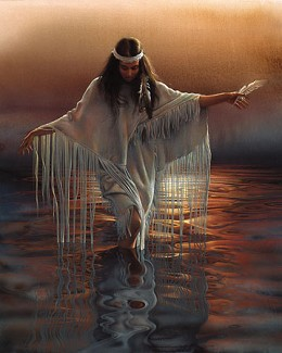 Golden Reflections Artist Proof by Lee Bogle Image is watermarked for copyright protection and is not present on the actual art work.