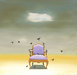 The Catbird Seat by Robert Deyber Image is watermarked for copyright protection and is not present on the actual art work.