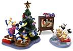 WDCC Disney ClassicsDonald And Tree Tv And Donalds Nephews Hat Trick