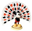 WDCC Disney Classics Thru The Mirror Mickey Mouse Playing Card Plumage