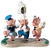 WDCC Disney Classics Three Little Pigs Triumphant Trio