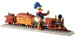 WDCC Disney Classics Out of Scale Donald Duck on Train Backyard Whistle Stop