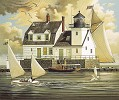Charles Wysocki Rockland Breakwater Light ANNIVERSARY EDITION